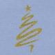Purple Christmas Tree SNoel Journal Card 4X4