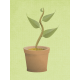 Single Sprouting Plant ANW Journal Filler Card 4x3