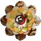 Sienna Brown & Gold Layered Paper Flower