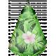 3 D tropical fabric pear element