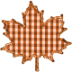 Fall Black & Orange Gingham- Leaf Fall 1- Orange Gingham