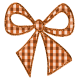Fall Black & Orange Gingham - Bow 1 - Orange Gingham