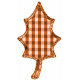 Fall Black & Orange Gingham- Leaf Fall 5- Orange Gingham