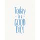 Good Day- Journal Card Good Day Blue 3x4v