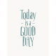 Good Day- Journal Card Good Day Teal 3x4v