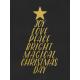 Christmas Day- JC Words Gold Black-3x4