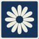 Picnic Day_Pictogram Chip_Dark Blue_Flower