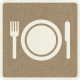 Picnic Day_Pictogram Chip_Brown_Plate