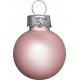 Winter Wonderland Snow - Ornament Ball Pink