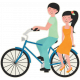 Love At First Sight- Sticker Blue Bicycle Double