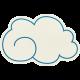 Love At First Sight- Cloud Sticker Blue