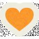 Love At First Sight- Sticker Orange Heart