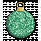 Green Glitter Bauble