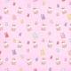 Mason Jar with Candy Teddies Paper Pink