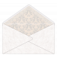 Envelope Open with damask insert