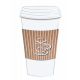 Takeaway Coffee Cup with cup emblem