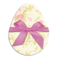 Easter Egg Floral with Pink Bow