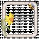 Fabric Frame Bee and Daffodil