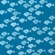 Paper - Blue fishes