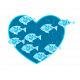 Heart - Blue fishes