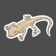Lizard 1- Petrii Gecko (Sticker)