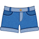 October 2020 Blog Train: Stonewashed Denim, Puffy Sticker, Shorts 01