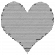 Cardboard Heart Gray