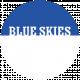 Blue Skies Word Circle Blue Skies