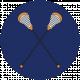 Sports Print Circle Lacrosse