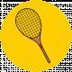 Sports Print Circle Tennis Racket