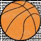 Sports Wood Basketball