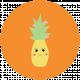 Cute Fruits Print Circle Pineapple