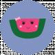 Cute Fruits Print Circle Watermelon