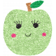Cute Fruits Glitter Apple Green
