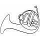 Art Class Music Doodle French Horn Template