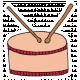 Art School Music Doodle Drum