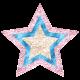 Donut Worry Glitter Star