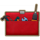 Handy People Leather Toolbox Open