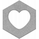 Spring Day Hexagon Shape 1d Chipboard Template