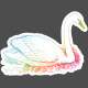 Raindrops & Rainbows Print Kit- Swan stamp