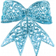 Unicorn Tea Party Element- Bow- Blue