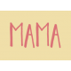 Family Day Word Art- Label- Mama