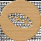 Easter Elements-Wood Coin Leaf