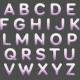 Free Spirit Alpha- Plastic Glitter White & Purple