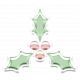 Baby's First Christmas Elements - Sticker Holly