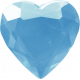 Love Knows No Borders- Heart Gem Blue