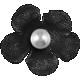 Granny Punk Elements- Flower Pearl Black