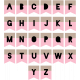 The Good Life: June Print Alpha- Brown & Pink Tabs Letters