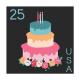 The Good Life - June Birthday Elements - Birthday Stamp 2