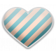 The Good Life- June Elements- Sticker Striped Heart 1